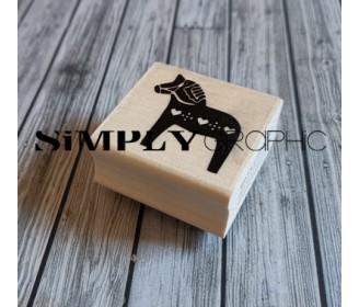 tampon cheval bois scandinave