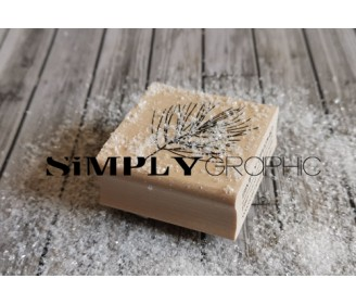 tampon bois branche de pin
