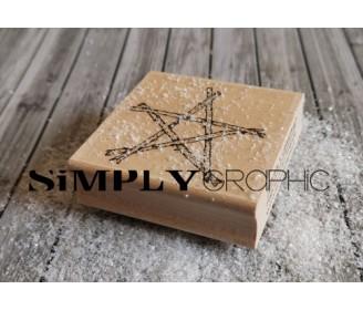 tampon bois étoile bois