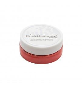 Nuvo embellishment mousse fusion red