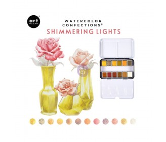 Watercolor confections -Shimmering lights