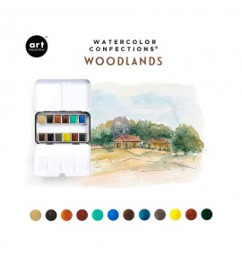 Watercolor confections -Woodlands
