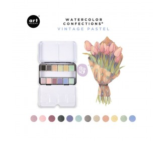 Watercolor confections -Vintage Pastel