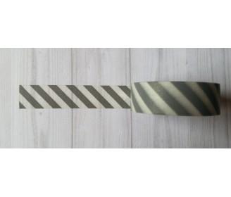masking tape diagonales grises