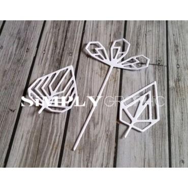 dies feuilles géométriques