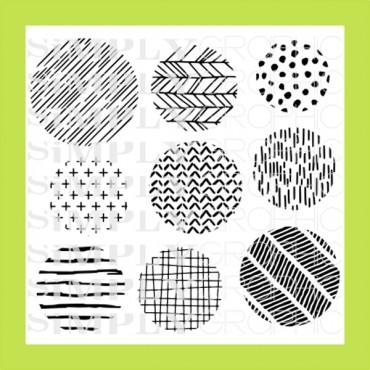 planche ronds à motifs