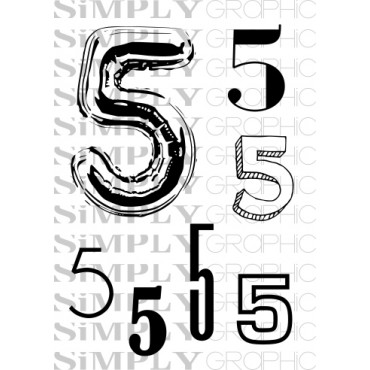 mini planche chiffre 5