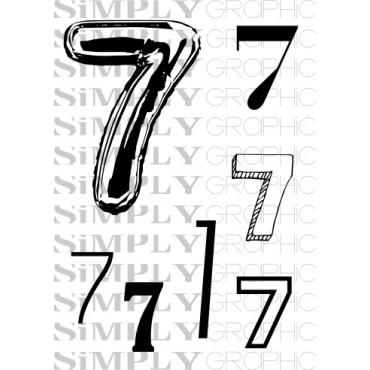 mini planche chiffre 7