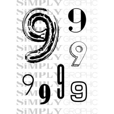 mini planche chiffre 9