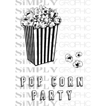 mini planche pop corn party