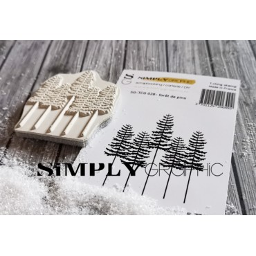 tampon cling forêt de pins