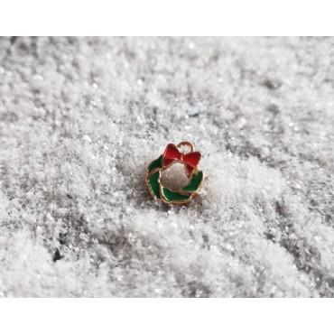 breloque couronne de Noël