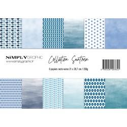 pack de papiers Santorin