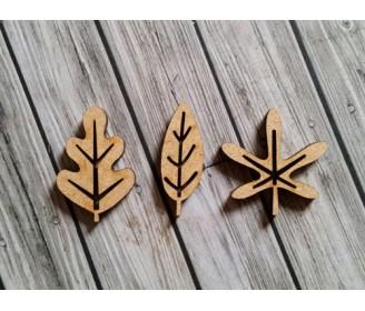 lot 3 feuilles bois