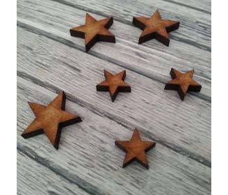 lot 6 étoiles bois