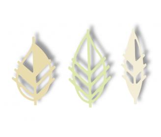 dies feuilles asymétriques