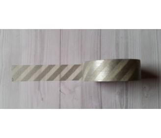 masking tape diagonales argent