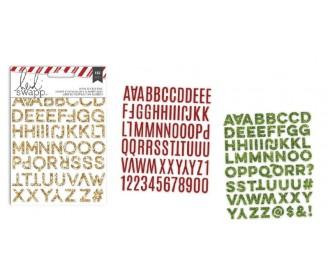 autocollants alphabets...